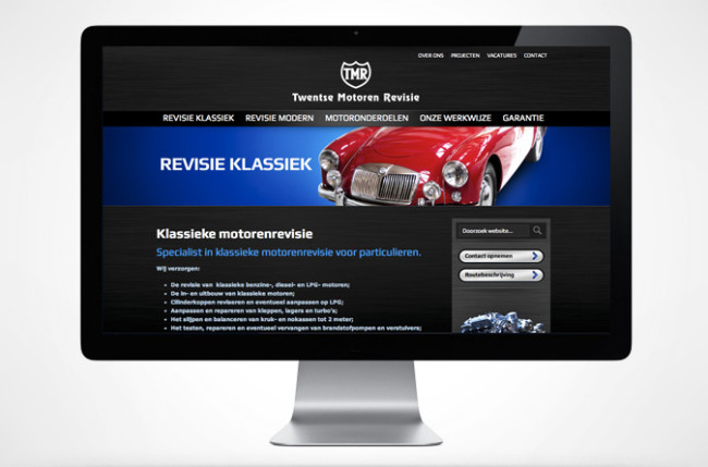 Twentse Motoren Revisie website subpagina
